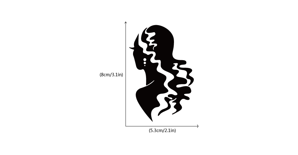 Model dziewczyna Salon piękności włosów przełącznik winylu naklejki mody włosów sylwetka naklejki ścienne dla fryzjera sypialnia wystrój domu SW0504