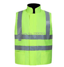 Reflective cotton-padded garments Safety protecting clothes Reflective working cotton vest
