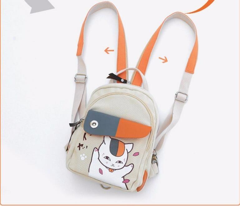 1 piece Anime Manga Natsume Yuujinchou Backpack Canvas Shoulders Bag Children Schoolbags Unisex Canvas Anime Travel Bag anime my neighbor totoro cartoon backpack canvas shoulders school bag children schoolbags men women bookbag printing backpack