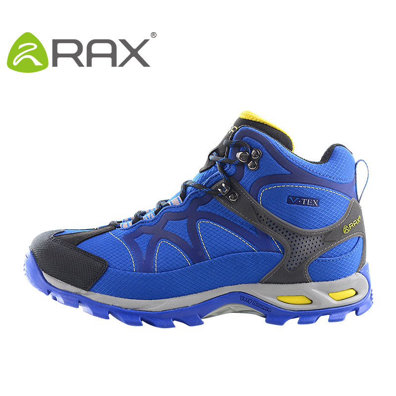 ФОТО RAX Waterproof Hiking Shoes Men Warm Waterproof Hiking boots Outdoor Sport Trekking Mountain Climbing Shoes For Men Boots Winter