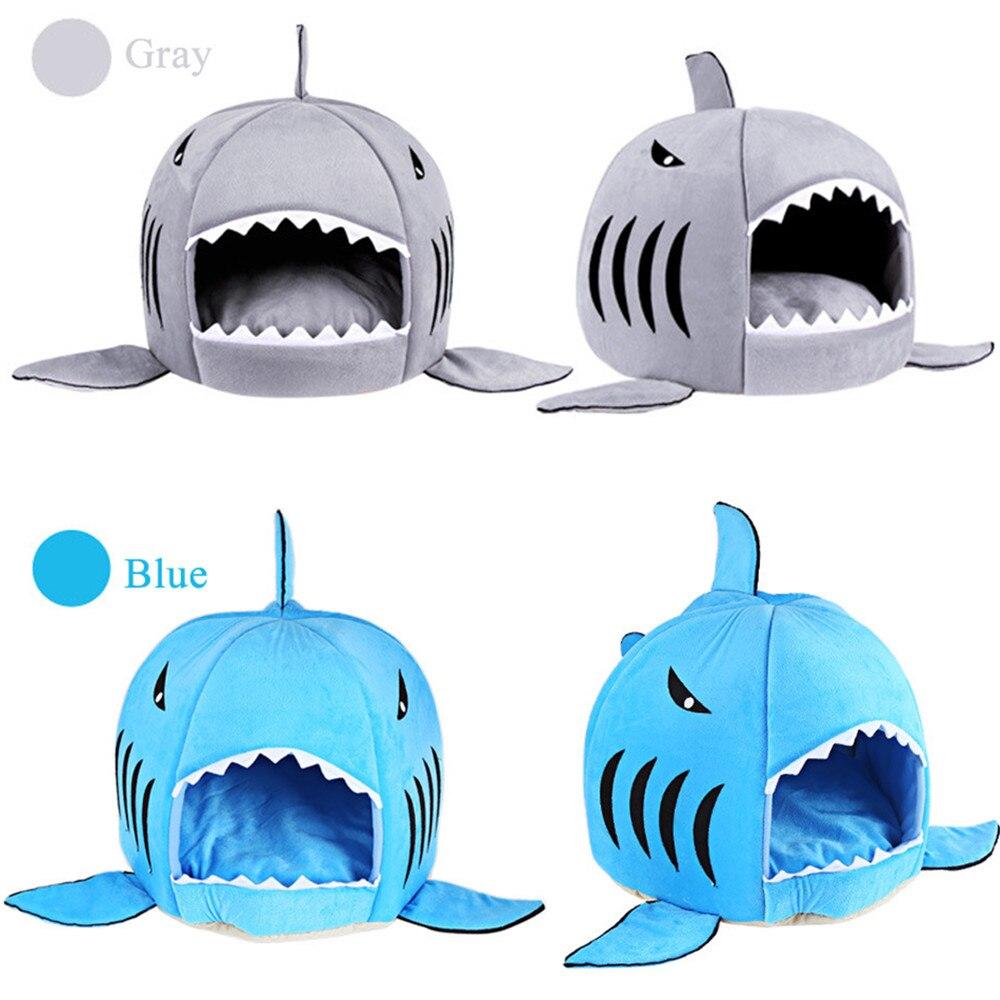 Heißer Verkauf Hund Bett Shark Maus Form Waschbar Haus Pet Bett Katze Haus Abnehmbare Kissen Pet Bett Shark Hund Haus für Kleine Hund