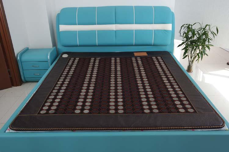 Good Quality Heating Germanium Mattress Far Infrared Negative Ion Jade Electric Bed Mattress Massager Size 1.2*1.9M