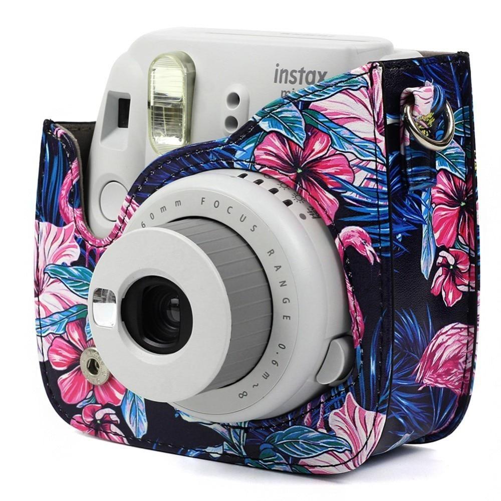 124650e9b206 Αξεσουάρ   Ανταλλακτικά NEW PU Leather Camera Shoulder Bag Protective Pouch  Case Cover For CAIUL Fujifilm Instax Mini 8 8+ 9 Camera