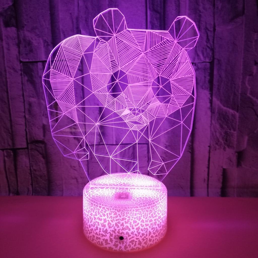 de Toque Estéreo Panda Colorido Visão Noturna