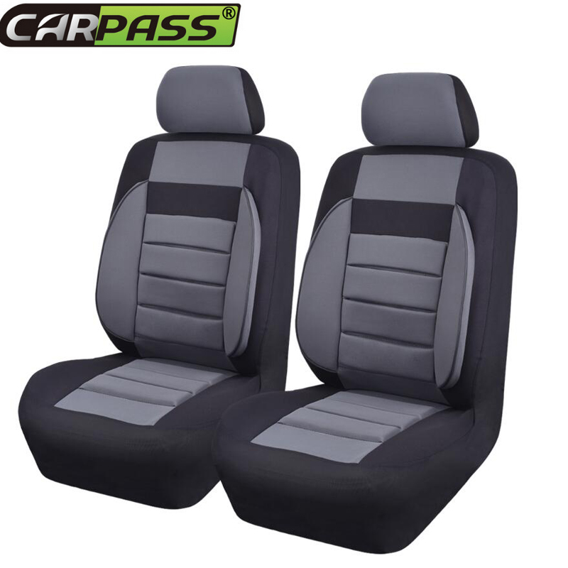 Car-pass Car Seat Covers Thick Sandwich 6 Color  Universal Blue Black Beige Red Gray  Auto Seat Cover Interior Accessories car rear trunk security shield cargo cover for volkswagen vw tiguan 2016 2017 2018 high qualit black beige auto accessories