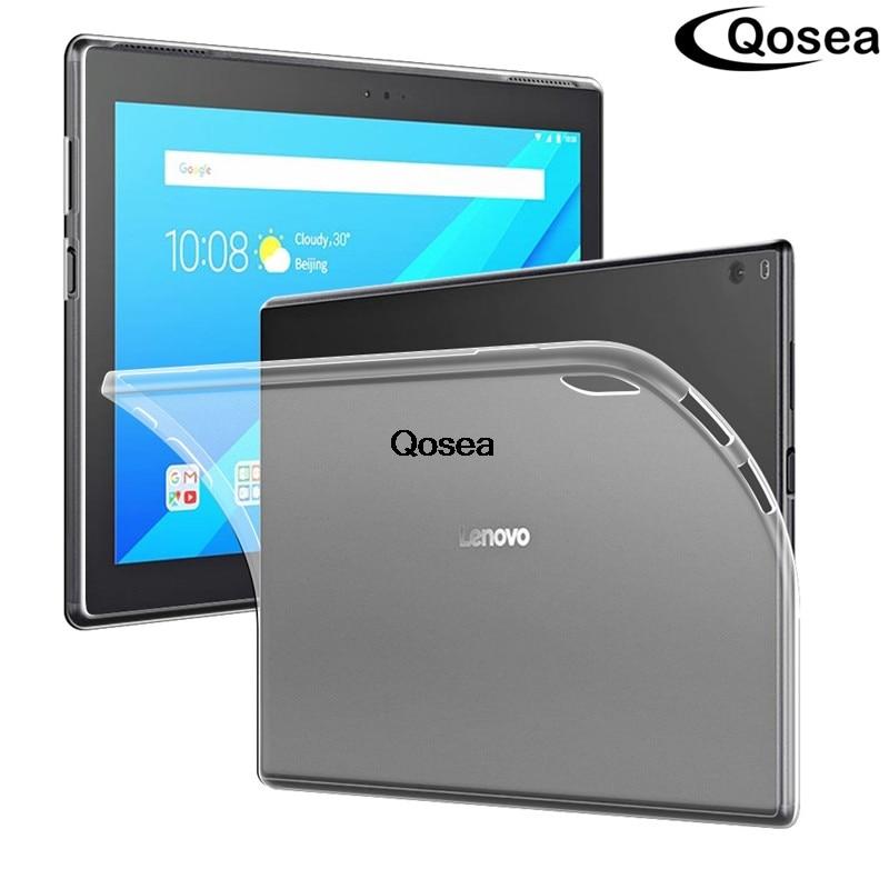 Pour Lenovo TAB 4 10 Plus TB-X704N TAB4 Plus TB-X704F Cas Transparent Silicone Ultra-mince Souple TPU Tablet PC Housse de protection