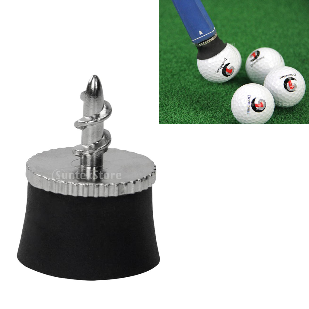Image 5 - Golf Ball Sucker Cup Pick Ups Black Rubber Putter Suckers Screws into your putters Retrieves Ball Easily-in Golf Training Aids from Sports & Entertainment