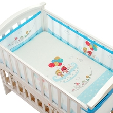 Baby Bed Cartoon Crib Bumper Babies Summer Cute Breathable Bumpers Kid Bedding Set infant Bedding Sets Child Bed Around Bumper
