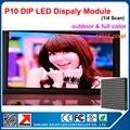 Открытый полный цвет P10 Светодиодный Дисплей Модуль 160 мм * 160 мм 16*16 пикселей 1/4 сканирования rgb видео дисплей модуль де сид на открытом воздухе