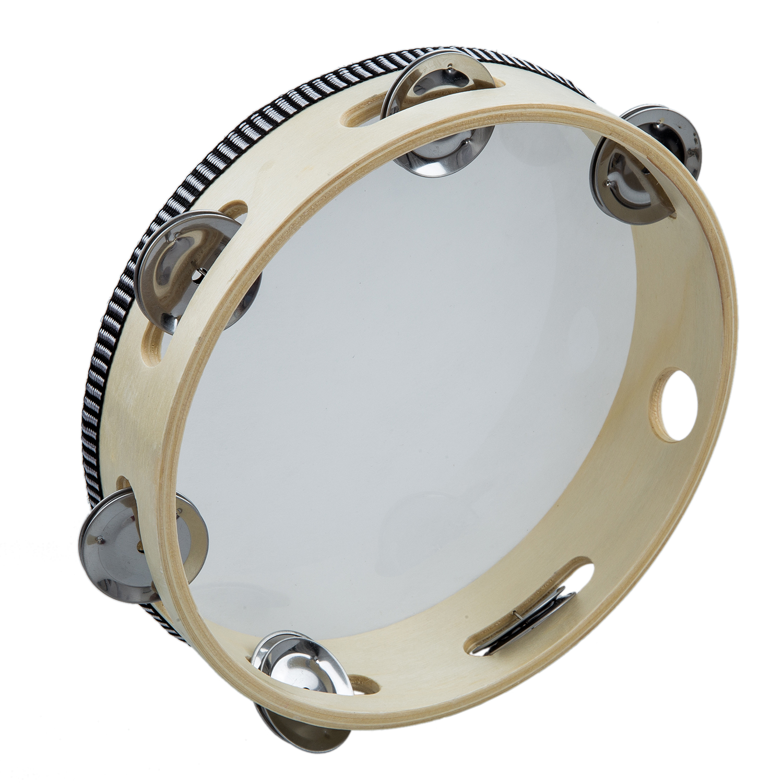 "XFDZ 8"" Musical Tambourine Tamborine Drum Round Percussion Gift for KTV Party"