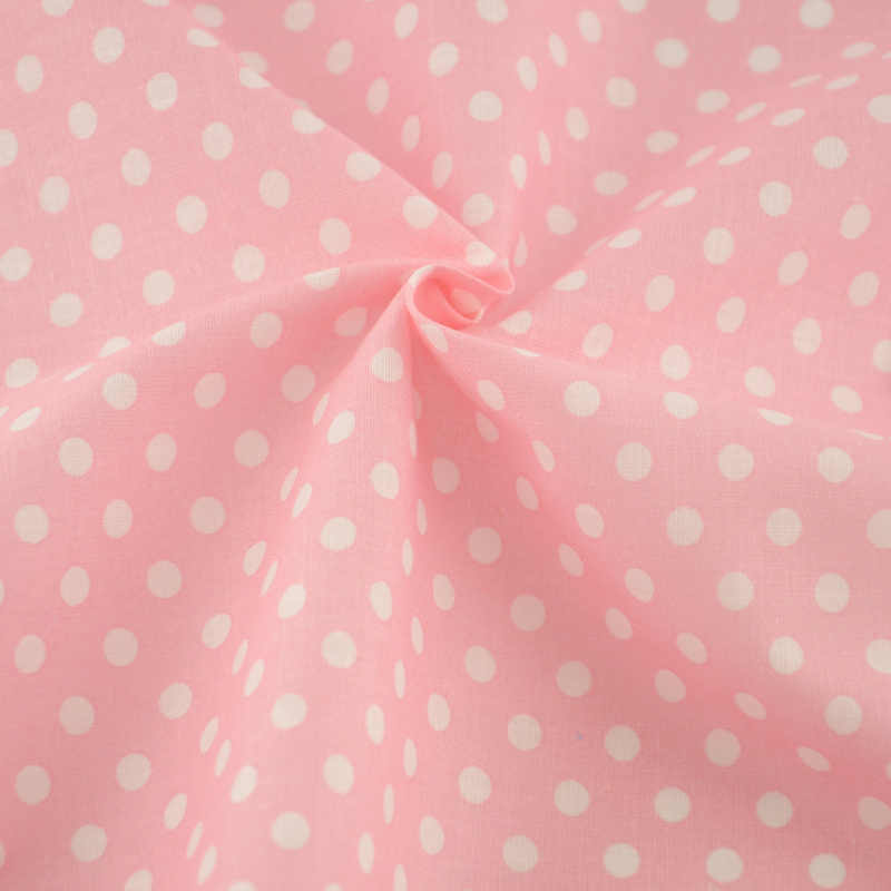 Patchwork Pre-cut Fat Quarter Pink Printed Dots Designs Cotton Fabric for DIY Dolls Clothes Tecido Beginner's Practice Curtain