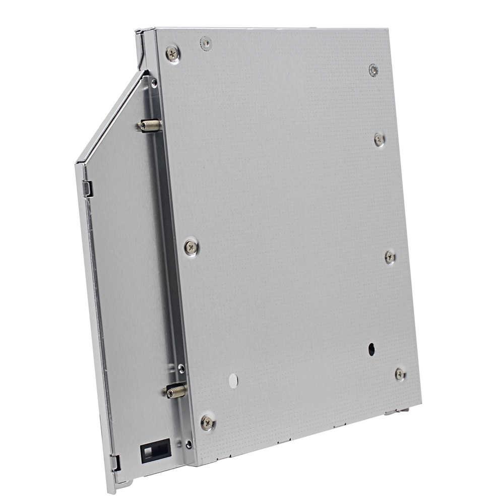 """Wysokowydajny Chipset SATA 3.0 2. HDD Caddy 9.5mm dla 2.5 """"dysku twardego SSD Case dla Macbook ( Pro Air ) SuperDrive Optibay"""
