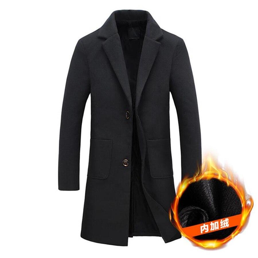 2019 Männer Windjacke Herbst Winter Mode Warm Halten Wind Proof Woll Mantel Mann Hohe Qualität Reine Farbe Freizeit Windjacke Angenehm Im Nachgeschmack