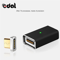 EDAL 1 mikro usb manyetik şarj aleti kablosu dönüştürücü android cep telefonu şarj otomatik adsorpsiyon manyetik kablo adaptörü