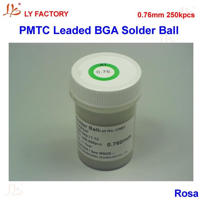 PMTC Leaded Solder Ball 0.76mm BGA Solder Balls 250Kpcs/Bottle for Chips Reballing pmtc 250k 0 65mm leaded free bga solder ball for bga repair bga reballing kit bga chip reballing