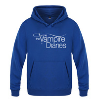 Vampire Diaries Hoodie Cotton Winter Teenages Vampire Diaries Logo Sweatershirt Pullover Hoody With Hood For Men