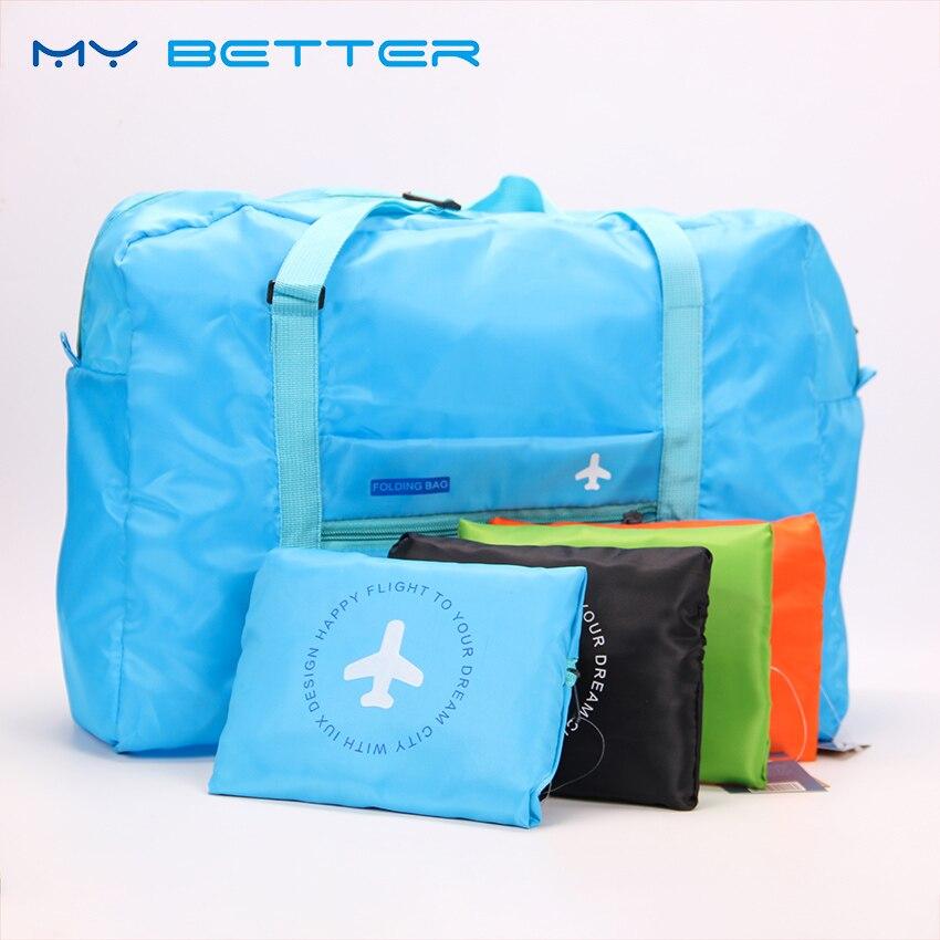 Fashion WaterProof Travel Bag Large Capacity Bag Women Nylon Folding Bag Unisex Luggage Travel Handbags цена 2017