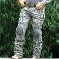 Tático militar do exército de carga calças sweatpants calças calças de combate do exército dos homens roupas casuais masculino calças com joelheiras