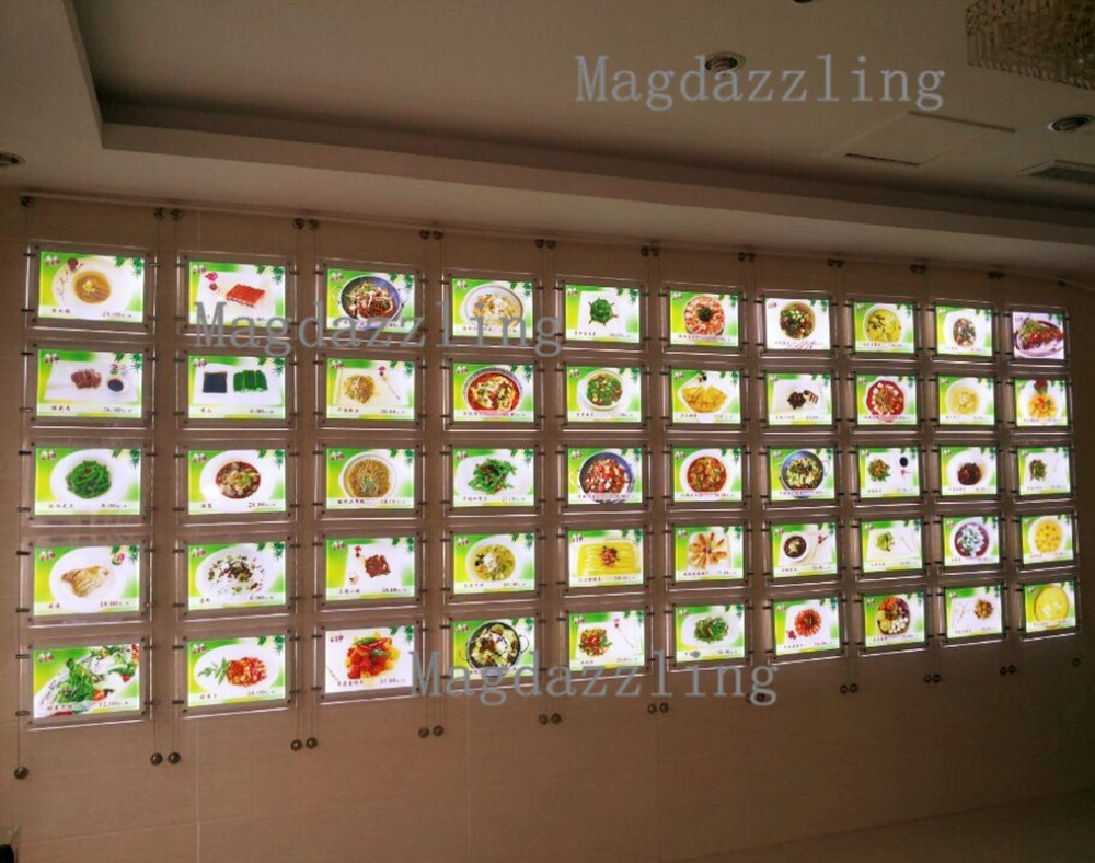 30units Suspended Cable Led Window Display Acrylic Poster