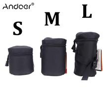 Andoer Professional DSLR Camera Lens Case Pouch Bag for Canon Nikon Sony Camera Lens Bag Pouch Case Protector