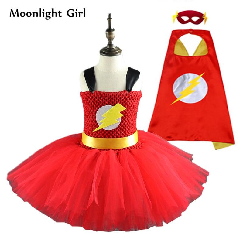 DC Girls The Flash Tutu Dress Halloween Costume
