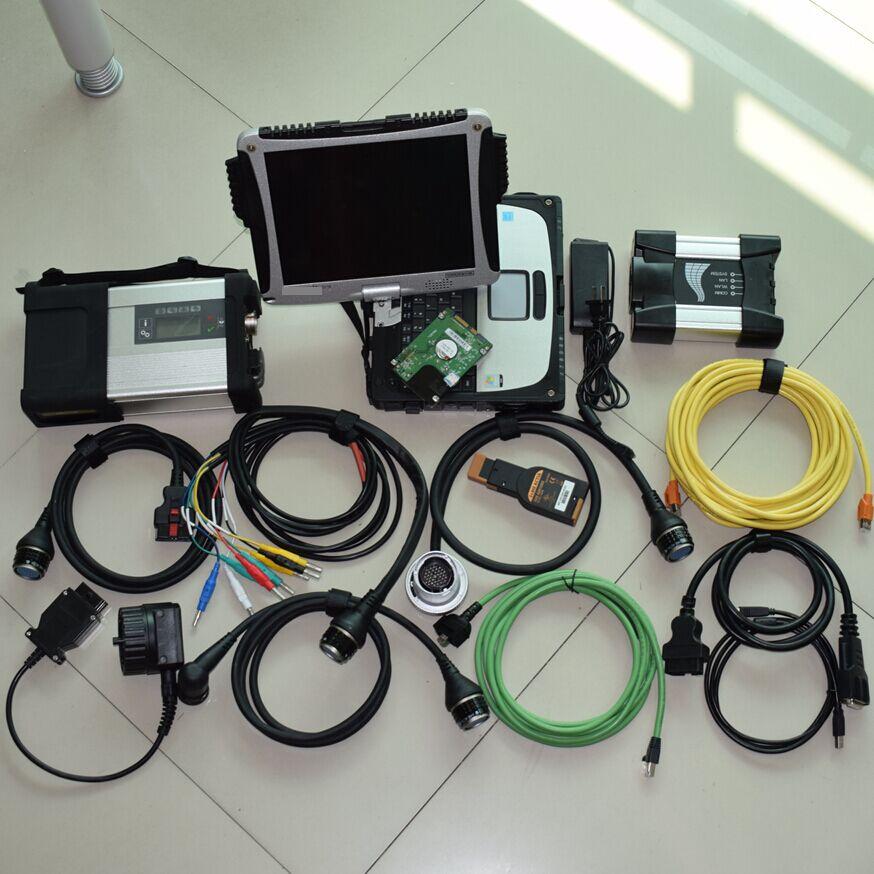 2018 Новое прибытие Супер 2in1 инструменту диагностики для BMW ICOM NEXT для sd соединяет МБ Звезда c5 с cf19 ноутбук 4 г toughbook Бесплатная доставка dhl
