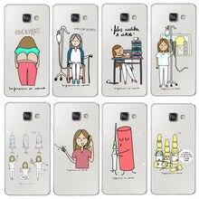 e21d1485bd085 España de dibujos animados médico enfermera caso para Samsung S6 S7 borde  S8 más A3 A5