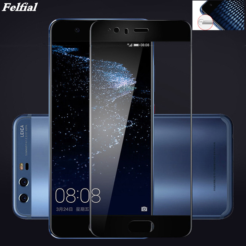 Full Cover Screen Protector Tempered Glass For Huawei P10 P20 Lite P8 Lite 2017 Mate 10