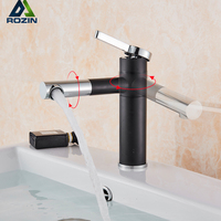 New Arrival White Spray Painting Basin Taps Bathroom Crane Torneira with Aerator 360 Free Rotate Neck Swive Spout