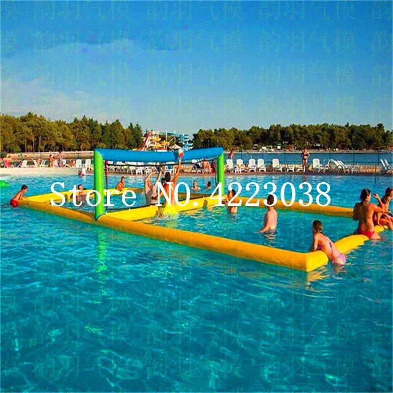 Бесплатная доставка надувной Волейбольный Корт, открытый надувные пляжные игры/надувной волейбол на воде корт для моря