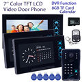 "Free shipping!7"" WD02SRR13 Door Bell Phone HD Camera 3x Monitor Intercom 8GB DVR Night Vision Security"