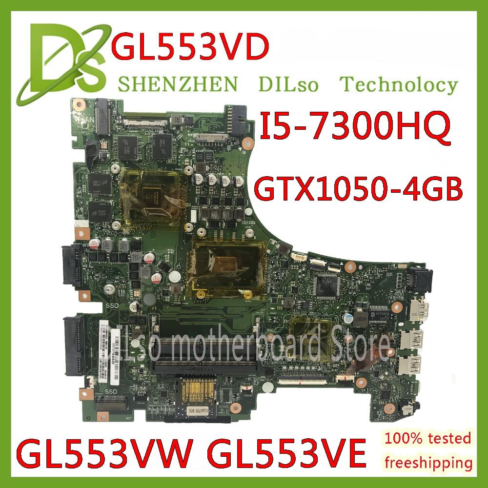 KEFU GL553VD pour ASUS GL553V GL553E GL553VW carte mère d'ordinateur portable GL553VD carte mère I7-7700HQ GTX1050 Test carte mère d'origine