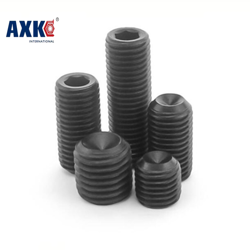 все цены на  Free Shipping 100pcs/Lot M4x4 mm M4*4 mm Alloy steel Hex Socket Head Cap Screw Bolts set screws with cup point  онлайн