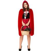 Rouge Plus La Taille Petit Chaperon Femmes Adultes Halloween Costume avec Cape