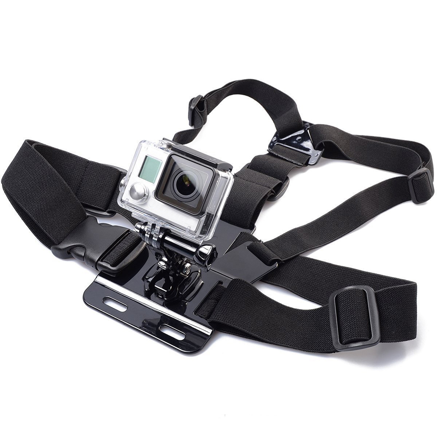 все цены на Adjustable Chest Strap Belt Body Tripod Harness Mount for Gopro Accessories  For Gopro Hero 5 4 3+2 1 for SJCAM Camera онлайн