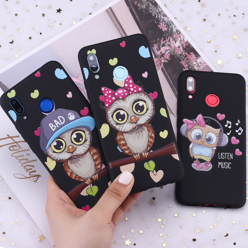 For <font><b>Samsung</b></font> S8 S9 S10 S10e Plus Note 8 9 10 A7 A8 Baby Cute Owl Lover Cartoon Candy Silicone Phone <font><b>Case</b></font> Cover Capa Fundas Coque image