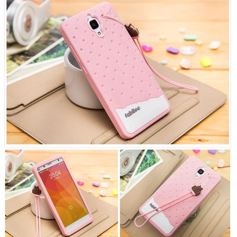 Xiaomi Mi4 Case Silicon Cute 3D Cartoon Silicone TPU Protective Phone Cases For Xiaomi 4 Mi4