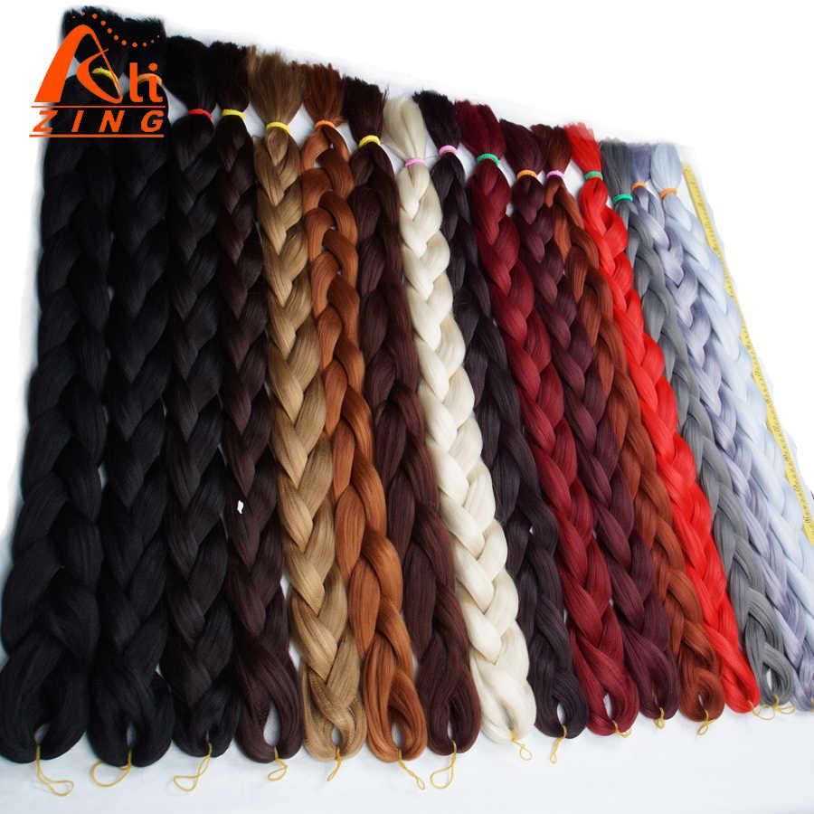 Alising jumbo trenza de cabello para locs 165g 82 pulgadas super linda extensión de cabello sintético de fibra de baja temperatura ultra trenzado de cabello