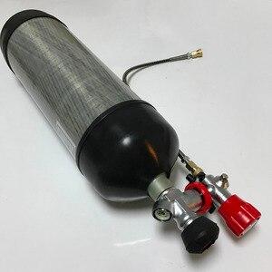 Image 1 - Acecare 6.8L 4500psi pcp carabine à air comprimé/gun gaz en fiber de carbone/HPA/Paintball cylindre/tank & valve et station de remplissage et protéger tasses en caoutchouc