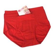 Женское нижнее белье большого размера с карманом, женские хлопковые трусы на молнии, нижнее белье, новые дышащие женские трусики