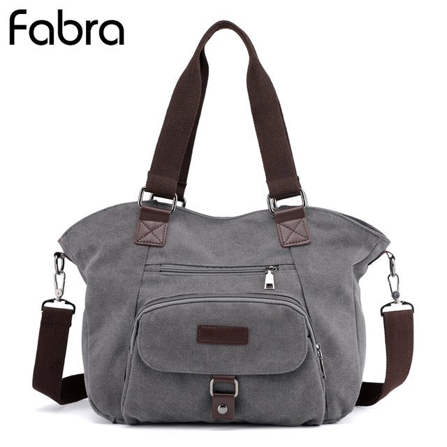 54faa7116afc Fabra New Fashion Women Canvas Tote Bags Lady Messenger Bags Female Handbags  Big Pocket Vintage Shoulder