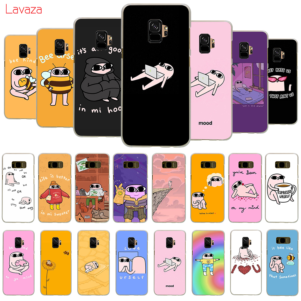 Lavaza ketnipz Colorful Cute Hard Phone Cover for Samsung Galaxy S8 S9 S10 Plus A50 A70 A6 A8 A9 2018 Case in Half wrapped Cases from Cellphones Telecommunications