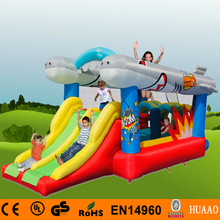 цена на Free Shipping Flyfish Inflatable Bouncer Slide for kids with Free CE blower