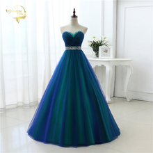New Design A Line Sexy Fashion Long Prom Dresses 2017 Sweetheart Soft Tulle Vestidos de Festa Party Hot Sale Prom Dress OP33081