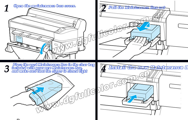 Бесплатная Доставка T6193 Техническое Обслуживание Коробки отходов чернил картридж для Epson Surecolor T3000 T5000 T7000 широкоформатный струйный принтер