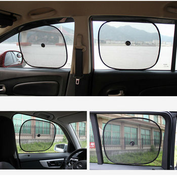 2 Car Side Window Sunshades Sun Screen Shade Sunscreen Baby Seat Blind Travel Holiday DIY Decorations image