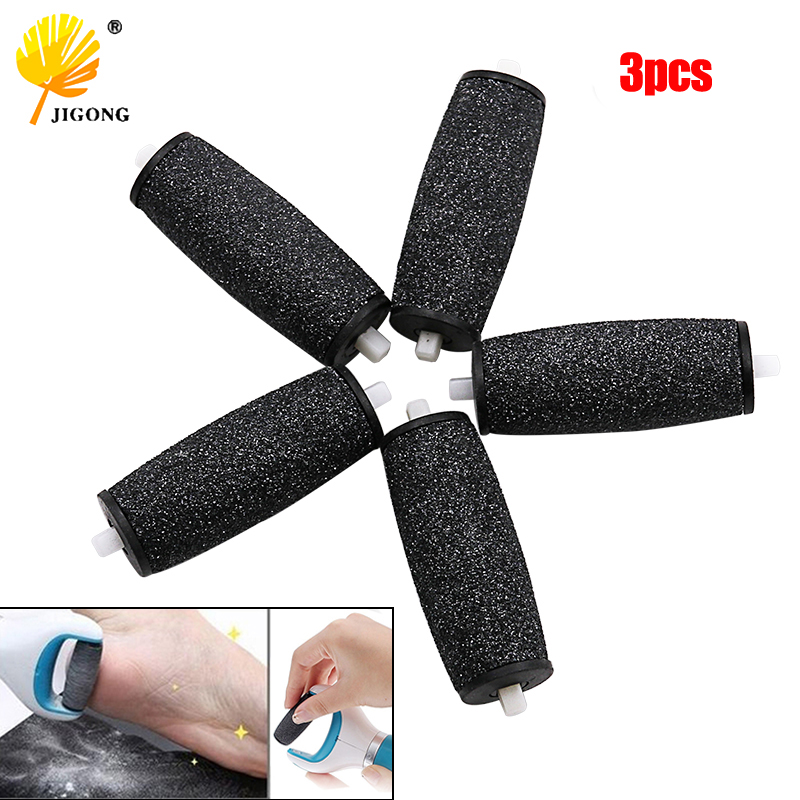 3Pcs Dull Polish Foot Care Tool Heads Hard Skin Remover Refills Replacement Rollers For Scholls File Feet Care Tool