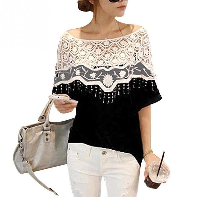 blouse wit zwart