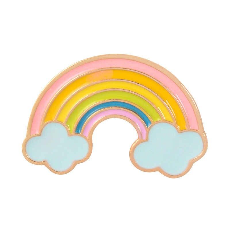9 colori 1PC Del Fumetto CuteRainbow e Nuvole Dello Smalto Spille Arcobaleno di Modo Spilla In Metallo Spilli Distintivo per le Donne Degli Uomini Dei Bambini regali
