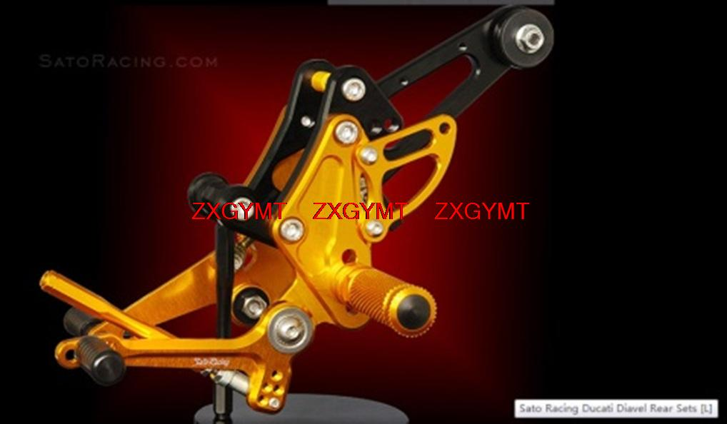 Footrest Foot Rest Pegs Rearset Rear Set for DUCATI DIAVEL 2011 - 2014 2012 2013 adjustable rider rear sets rearset footrest foot rest pegs gold for suzuki gsxr600 gsxr750 gsxr 600 750 2011 2012 2013 2014 2015